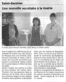 20140705-Courrier-Une nouvelle secrétaire à la mairie