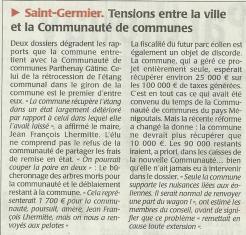 20150112-Courrier-Tensions entre la commune et la CC