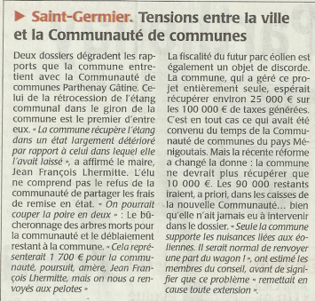 20150112-Courrier-Tensions entre la commune et la CC