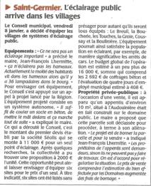 20150119-Courrier-L eclairage public arrive dans les villages
