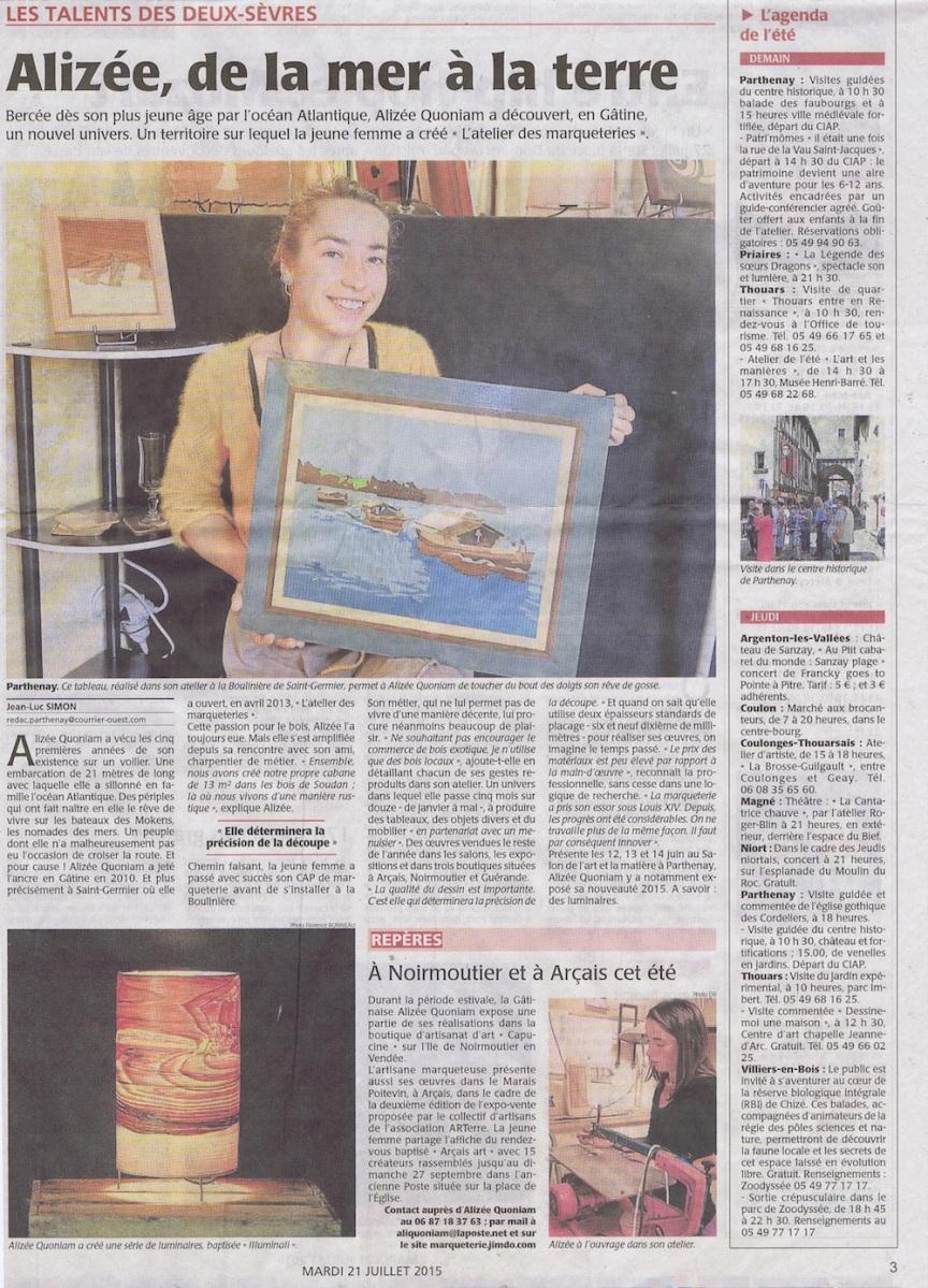 Alizée Quoniam, Un talent des Deux-Sèvres