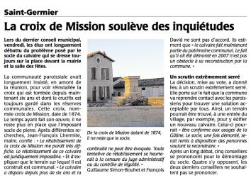 20150915-Courrier-La Croix de Mission soulève des inquiétudes