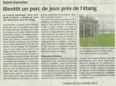 20160226-Courrier-Bientot un parc de jeux pres de l'etang
