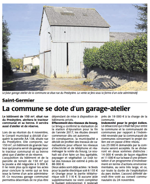 20161110-courrier-la-commune-se-dote-d-un-garage-atelier