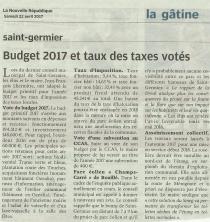 20170422-NR-Budget 2017 et taux des taxes votés