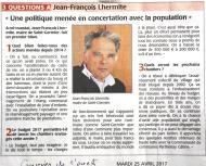 20170425-Courrier-Une politique menée en concertation avec la population
