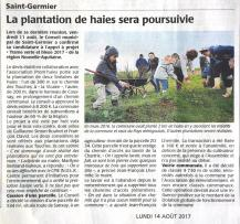 20170814-Courrier-La plantation de haies sera poursuivie
