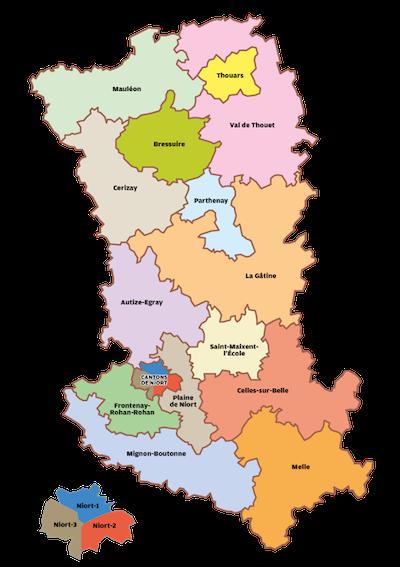 Carte des cantons pour les Élestions départementales 2015