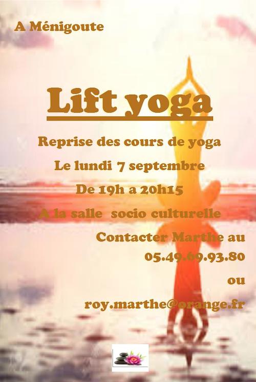 Cours de Yoga Ménigoute