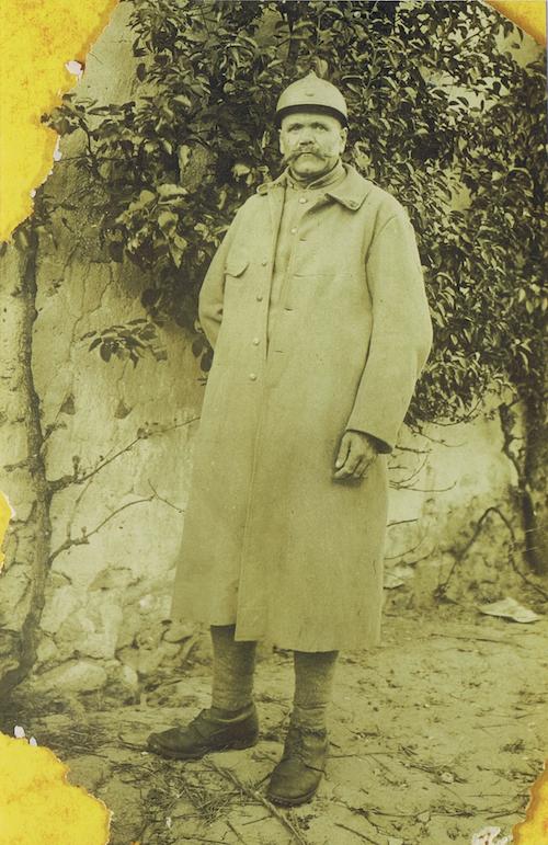 Photo originale d'un Poilu de Saint Germier qui sera présentée lors de l'exposition éponyme.