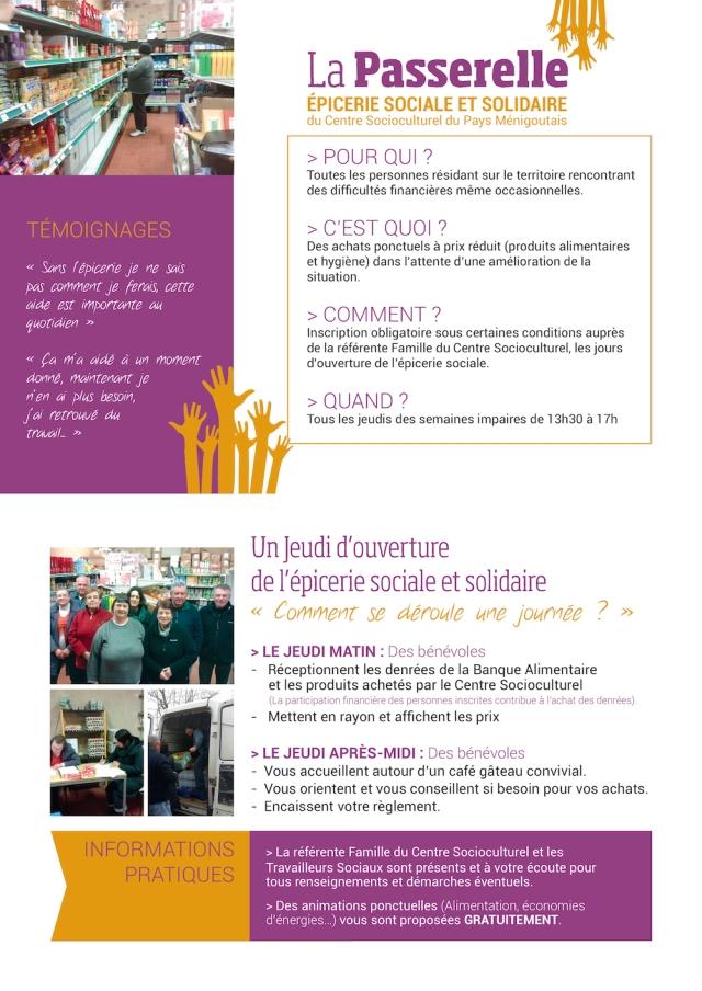 L'épicerie sociale et solidaire située aux Forges est ouverte au public tous les jeudis après-midi des semaines impaires.