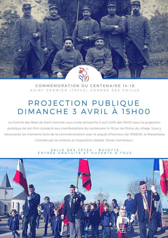 Saint Germier- Projection Publique Spécial Centenaire Dimanche 3 Avril 2016