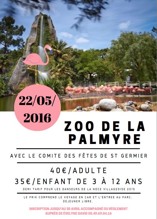 Sortie 2016 Zoo Palmyre avec le Comité des fêtes