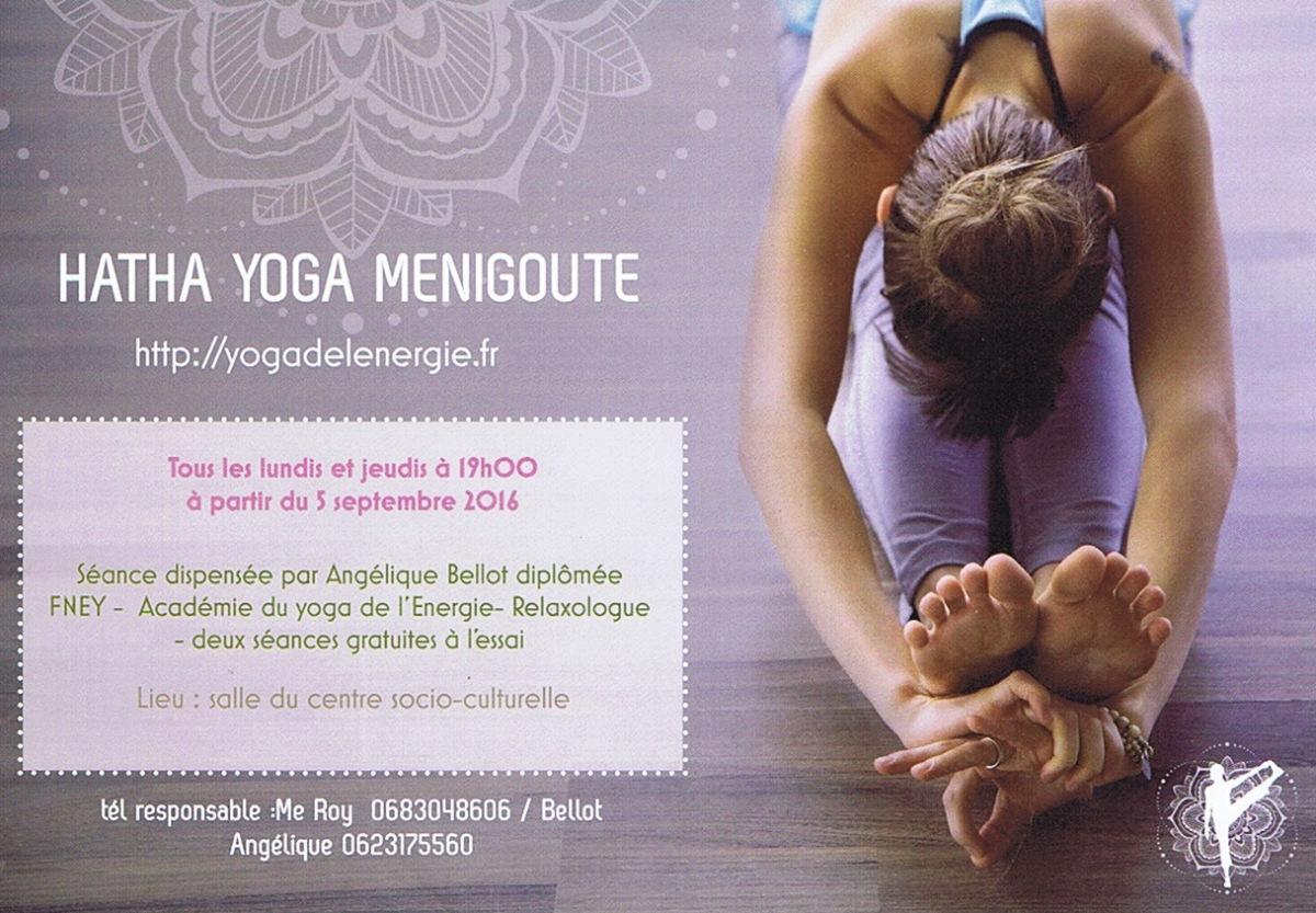 Cours de Yoga à Ménigoute