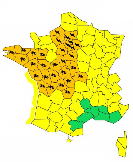 Alerte Vigilance Orange en Deux-Sèvres