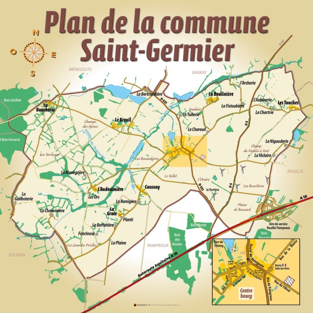 Plan de la commune Saint-Germier