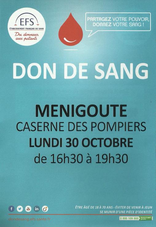 EFS Don du Sang 30102017