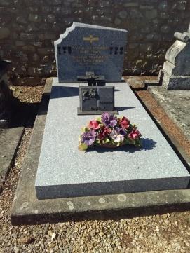 Tombe de Victor Guignard qui a combattu durant la 1ère Guerre Mondiale.