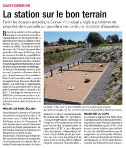 20181022-Courrier-La station sur le bon terrain