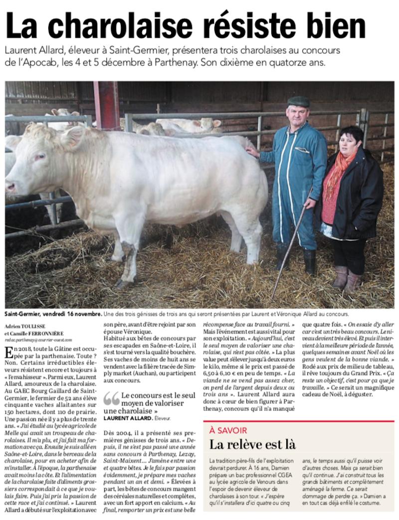 20181126-Courrier-La Charolaise résiste bien