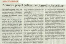 20190916-Courrier-Le conseil vote contre le projet éolien de Pamproux