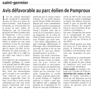 20190917-NR-Avis défavorable au parc éolien de Pamproux