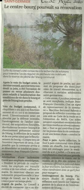 20200615-Courrier-Le bourg poursuit sa rénovation
