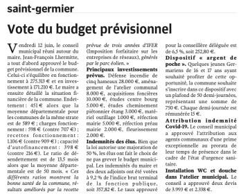 20200624-NR-Vote du budget prévisionnel