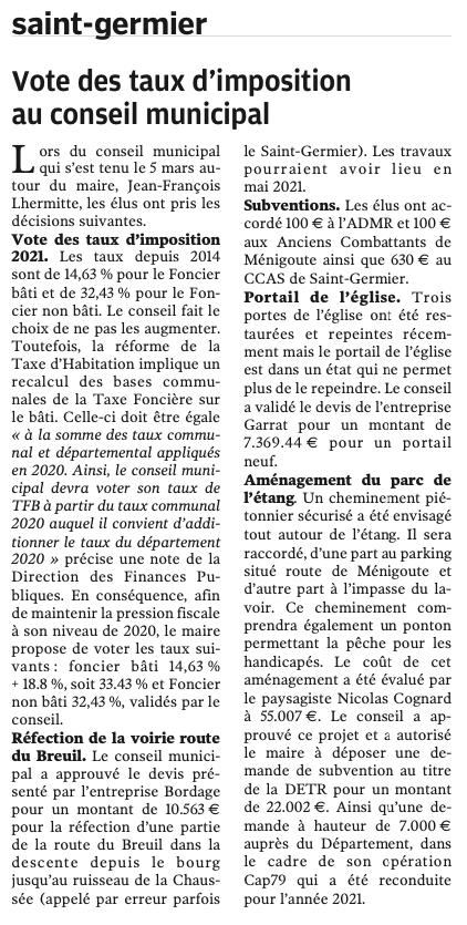 20210318-NR-Vote des taux d'imposition au conseil municipal
